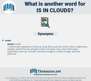 is in clouds, synonym is in clouds, another word for is in clouds, words like is in clouds, thesaurus is in clouds