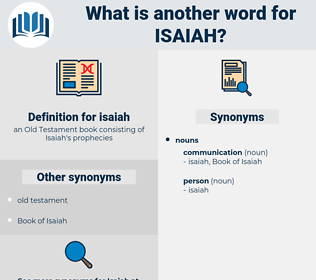 isaiah, synonym isaiah, another word for isaiah, words like isaiah, thesaurus isaiah