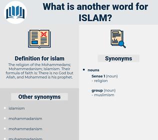 islam, synonym islam, another word for islam, words like islam, thesaurus islam