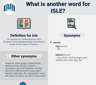 isle, synonym isle, another word for isle, words like isle, thesaurus isle