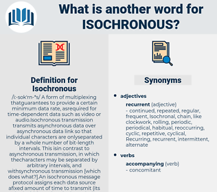 Isochronous, synonym Isochronous, another word for Isochronous, words like Isochronous, thesaurus Isochronous