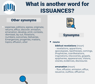 issuances, synonym issuances, another word for issuances, words like issuances, thesaurus issuances