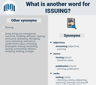 issuing, synonym issuing, another word for issuing, words like issuing, thesaurus issuing