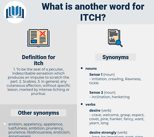 itch, synonym itch, another word for itch, words like itch, thesaurus itch