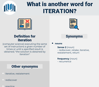 iteration, synonym iteration, another word for iteration, words like iteration, thesaurus iteration
