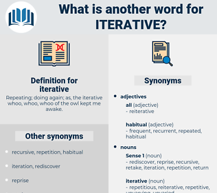 iterative, synonym iterative, another word for iterative, words like iterative, thesaurus iterative