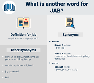 jab, synonym jab, another word for jab, words like jab, thesaurus jab