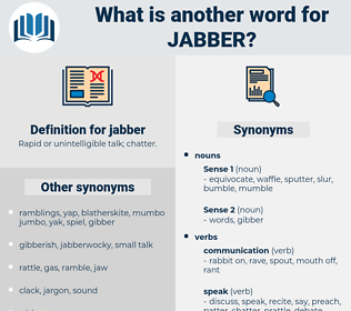 jabber, synonym jabber, another word for jabber, words like jabber, thesaurus jabber