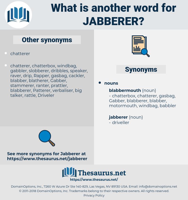 jabberer, synonym jabberer, another word for jabberer, words like jabberer, thesaurus jabberer