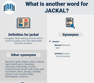 jackal, synonym jackal, another word for jackal, words like jackal, thesaurus jackal