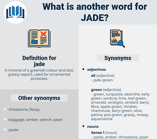 jade, synonym jade, another word for jade, words like jade, thesaurus jade