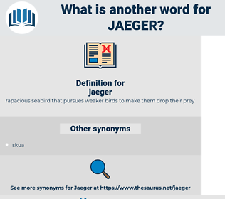 jaeger, synonym jaeger, another word for jaeger, words like jaeger, thesaurus jaeger