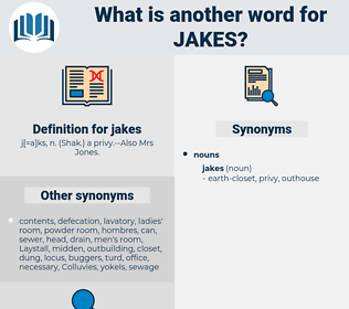 jakes, synonym jakes, another word for jakes, words like jakes, thesaurus jakes