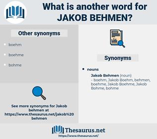 Jakob Behmen, synonym Jakob Behmen, another word for Jakob Behmen, words like Jakob Behmen, thesaurus Jakob Behmen