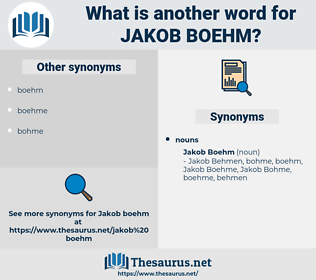 Jakob Boehm, synonym Jakob Boehm, another word for Jakob Boehm, words like Jakob Boehm, thesaurus Jakob Boehm