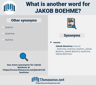 Jakob Boehme, synonym Jakob Boehme, another word for Jakob Boehme, words like Jakob Boehme, thesaurus Jakob Boehme