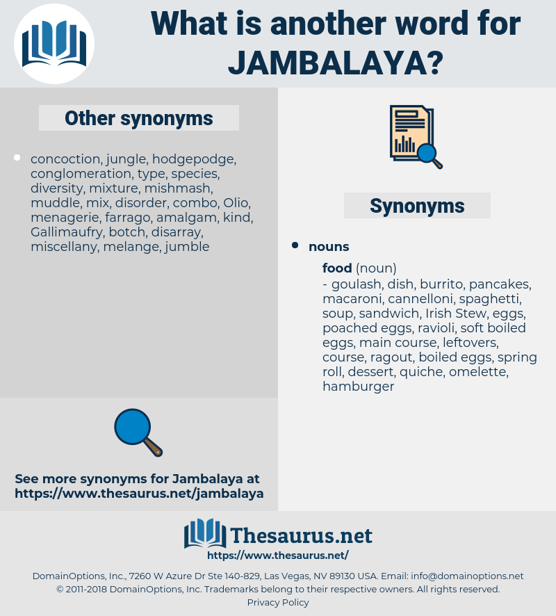 jambalaya, synonym jambalaya, another word for jambalaya, words like jambalaya, thesaurus jambalaya