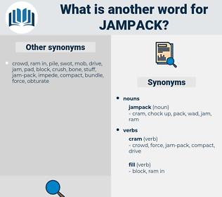 jampack, synonym jampack, another word for jampack, words like jampack, thesaurus jampack