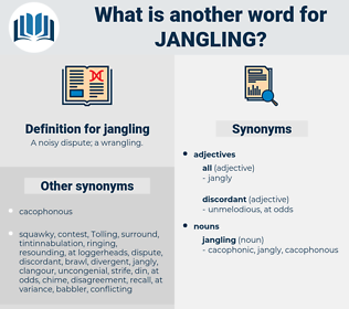 jangling, synonym jangling, another word for jangling, words like jangling, thesaurus jangling