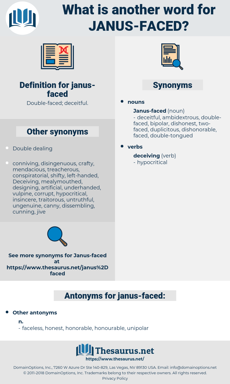 janus-faced, synonym janus-faced, another word for janus-faced, words like janus-faced, thesaurus janus-faced