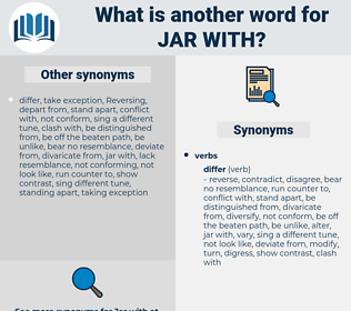 jar with, synonym jar with, another word for jar with, words like jar with, thesaurus jar with