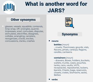 jars, synonym jars, another word for jars, words like jars, thesaurus jars