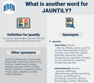 jauntily, synonym jauntily, another word for jauntily, words like jauntily, thesaurus jauntily