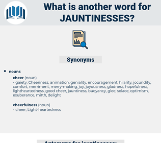 jauntinesses, synonym jauntinesses, another word for jauntinesses, words like jauntinesses, thesaurus jauntinesses
