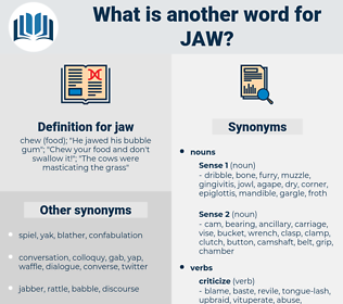 jaw, synonym jaw, another word for jaw, words like jaw, thesaurus jaw