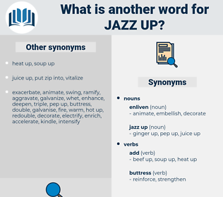 jazz up, synonym jazz up, another word for jazz up, words like jazz up, thesaurus jazz up