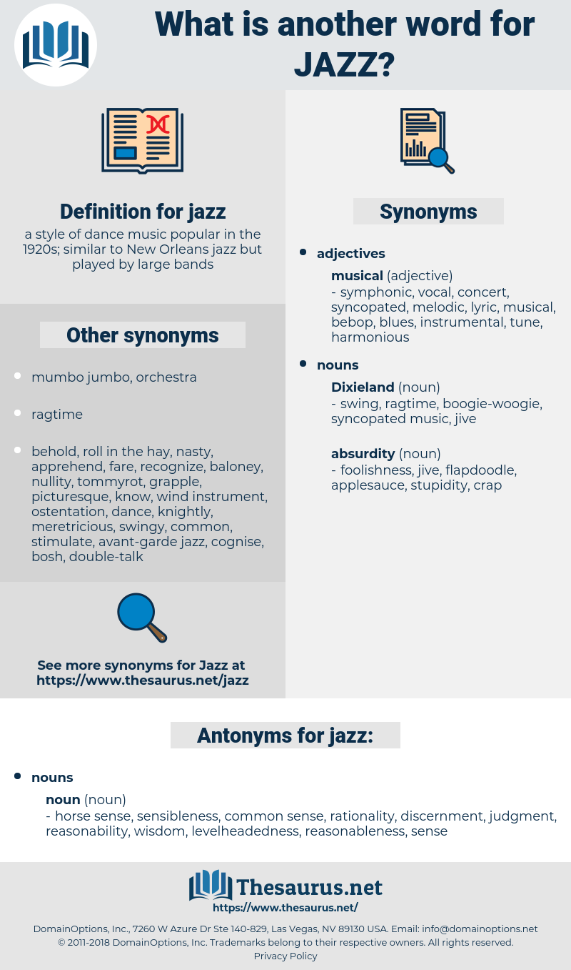 jazz, synonym jazz, another word for jazz, words like jazz, thesaurus jazz