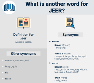 jeer, synonym jeer, another word for jeer, words like jeer, thesaurus jeer
