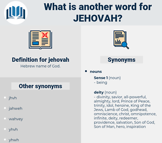 jehovah, synonym jehovah, another word for jehovah, words like jehovah, thesaurus jehovah