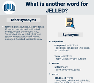 jelled, synonym jelled, another word for jelled, words like jelled, thesaurus jelled