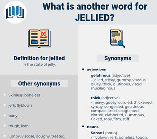 jellied, synonym jellied, another word for jellied, words like jellied, thesaurus jellied