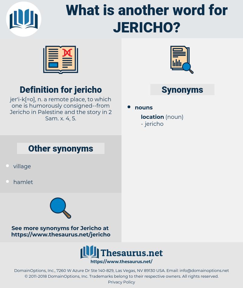 jericho, synonym jericho, another word for jericho, words like jericho, thesaurus jericho