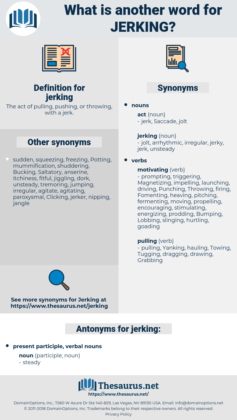 jerking, synonym jerking, another word for jerking, words like jerking, thesaurus jerking