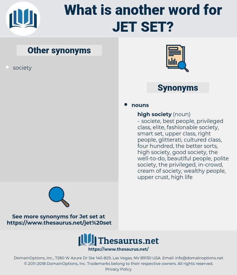 jet set, synonym jet set, another word for jet set, words like jet set, thesaurus jet set