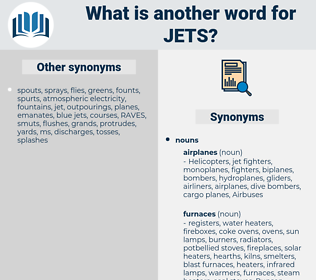 jets, synonym jets, another word for jets, words like jets, thesaurus jets
