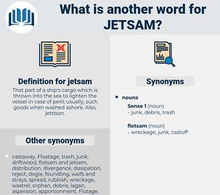 jetsam, synonym jetsam, another word for jetsam, words like jetsam, thesaurus jetsam