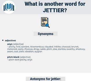 jettier, synonym jettier, another word for jettier, words like jettier, thesaurus jettier