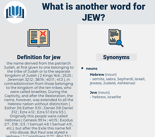 jew, synonym jew, another word for jew, words like jew, thesaurus jew