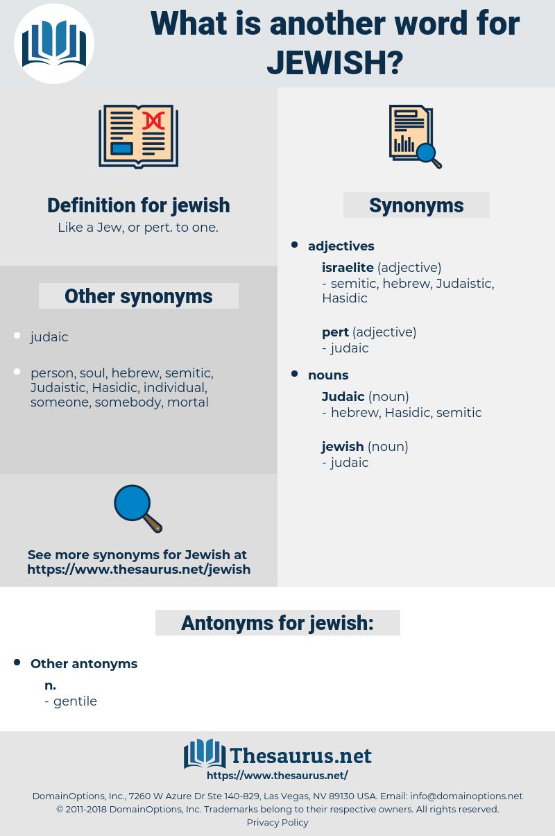 jewish, synonym jewish, another word for jewish, words like jewish, thesaurus jewish