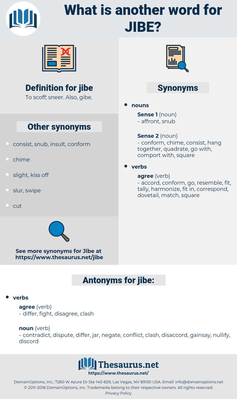 jibe, synonym jibe, another word for jibe, words like jibe, thesaurus jibe