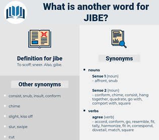 jibe, synonym jibe, another word for jibe, words like jibe, thesaurus jibe