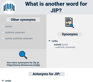 JIP, synonym JIP, another word for JIP, words like JIP, thesaurus JIP