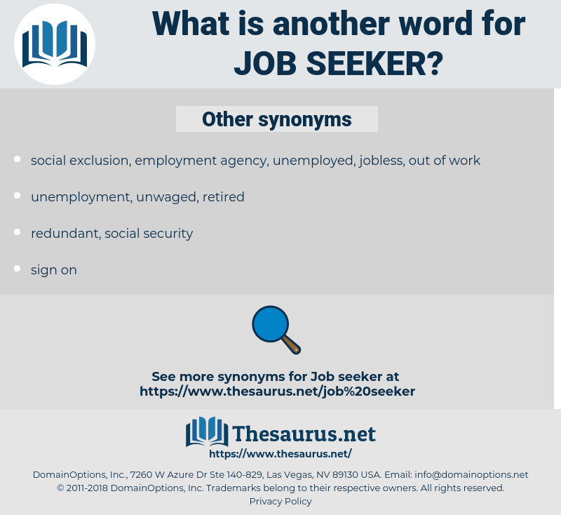 job seeker, synonym job seeker, another word for job seeker, words like job seeker, thesaurus job seeker