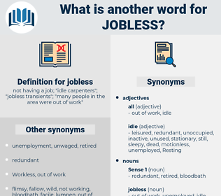 jobless, synonym jobless, another word for jobless, words like jobless, thesaurus jobless