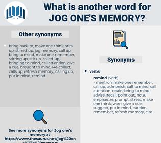jog one's memory, synonym jog one's memory, another word for jog one's memory, words like jog one's memory, thesaurus jog one's memory