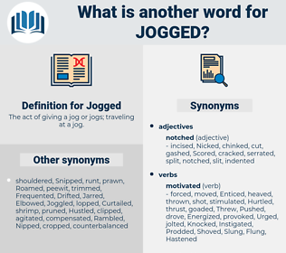 Jogged, synonym Jogged, another word for Jogged, words like Jogged, thesaurus Jogged